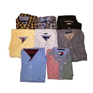 Bundle Of 8 Tommy Hilfiger Button Down Shirts